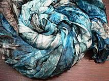 Šály - Tyrkysový velký šál..180 x 90 cm - 4278303_