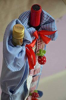 Úžitkový textil - Obal na vínko - 4281394_