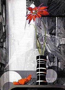 Papier - reprodukcia kvety - 4280277_