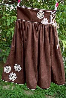 Sukne - čokoládová - 4284124_