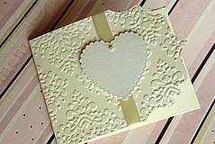Papiernictvo - Svadobné oznámenie - ornamentové so srdiečkom - 4285896_