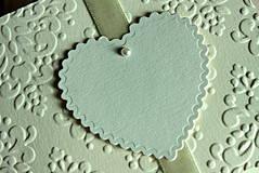 Papiernictvo - Svadobné oznámenie - ornamentové so srdiečkom - 4285897_