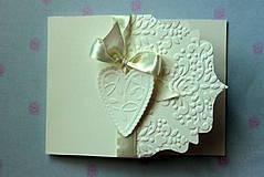 Papiernictvo - Svadobné oznámenie - ornamentové so srdiečkom - 4285898_