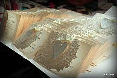 Papiernictvo - Svadobné oznámenie - ornamentové so srdiečkom - 4285899_