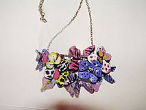 safari flowers - náhrdelník