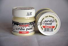 Farby-laky - Matná akrylová farba, slonová kosť, 50 ml - 4285274_