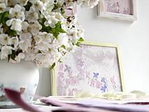 Obrazy - Fialky v jarnej rose - 4283366_