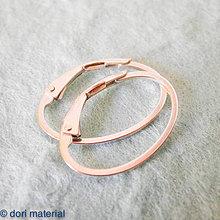 Komponenty - strieborné oválne zatváracie háčiky (Ag 925), pár - 4284636_
