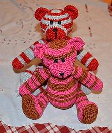 Hračky - ...macík pre Cherrynku...ružový - 4283681_