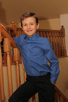Detské súpravy - Elegantná košeľa pre chlap(c)ov - 4285957_