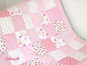 Textil - Patchworková deka 100x140cm - 4282139_