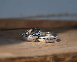 """Prstene - Obrúčky """"moje srdiečko"""" aurum so srdiečkom pre oboch - 4287839_"""