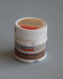 Farby-laky - Lepidlo a lak na keramiku, 50 ml, Pentart - 4289108_