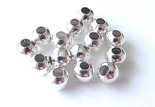 Korálky - Kovové korálky 6 mm - 4286774_