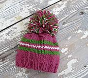 Detské čiapky - brmbrmbolec dievčenský - 4288257_