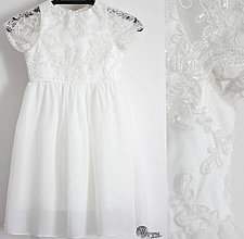 Detské oblečenie - Detské šaty z tylovej krajky s korálkami - 4288189_