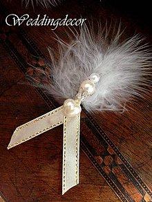 Pierka - Svadobné pierka luxus - 4288470_