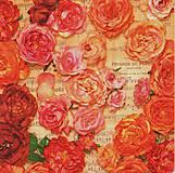 Papier - 318 retro ruže - 4287667_