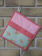 Úžitkový textil - set rukavica + chňapka Anna - 4289580_