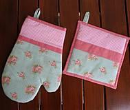 Úžitkový textil - set rukavica + chňapka Anna - 4289581_