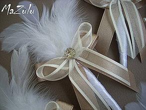 """Pierka - svadobné pierka  """" biela káva"""" - 4292250_"""