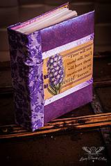 Papiernictvo - Violet photo album - custom made :) - 4290856_