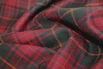 Textil - Káro vlnené bordové - 4296146_
