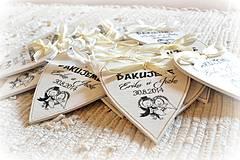 Darčeky pre svadobčanov - Svadobné magnetky - 4293421_