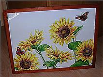 Obrázky - Slnečnicový obraz v drevenom ráme 43,5 x 34,5 cm - 4294913_