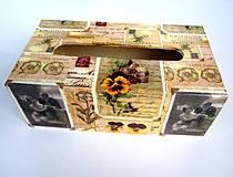 Krabičky - Carte postale - krabica na vreckovky - 4296508_
