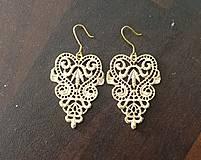 Náušnice - zlaté ornamenty - 4297822_