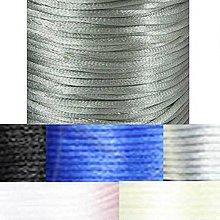 Galantéria - Nylonová šnúrka 2mm, šedá - 10cm - 4297483_