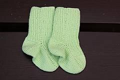 Zelené detské ponožky