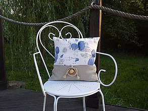 Úžitkový textil - Ľanová obliečka Brise de Mer - natural - 4297709_