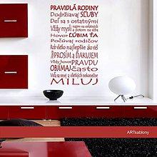 Dekorácie - (3546n) Nálepka na stenu - Pravidla rodiny - 4298449_