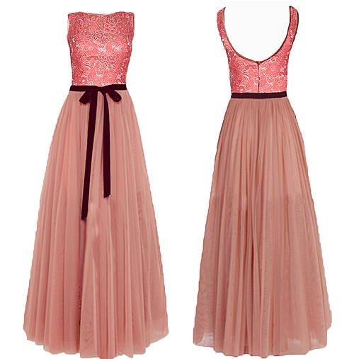 2a7cc676dfe7 Spoločenské šaty s tylovou sukňou a krajkovým vrškom rôzne farby ...