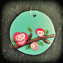 Náhrdelníky - Kvitnúca halúzka - prívesok - 4298848_