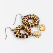 Náušnice - Zlato máčené v čokoládě - náušnice - 4301488_