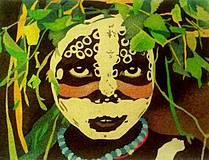 - Pieskový obraz- MAMA AFRIKA - 4302037_