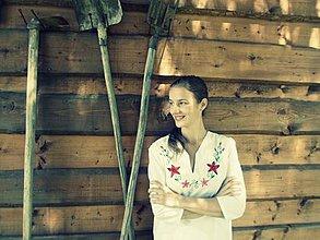 Košele - sukienku si hore vykasala, biele nôžky ukázala - 4301570_