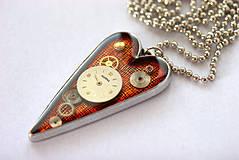 Náhrdelníky - Orange Love - O.O.A.K - 4302585_