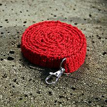 Pre zvieratká - Háčkované 100% bavlnené vodítko vo farbe vlčích makov... - 4307016_