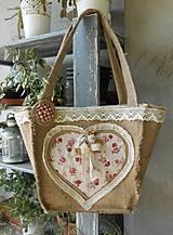 Kabelky - romantický košík - 4306093_