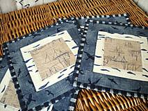 Úžitkový textil - Na mori ...  ( sada 2kusy) - 4305632_