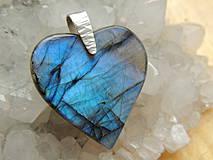 Náhrdelníky - ochranné srdce labradoritu - 4307481_