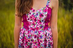 Šaty - Fialová lúka - 4304815_