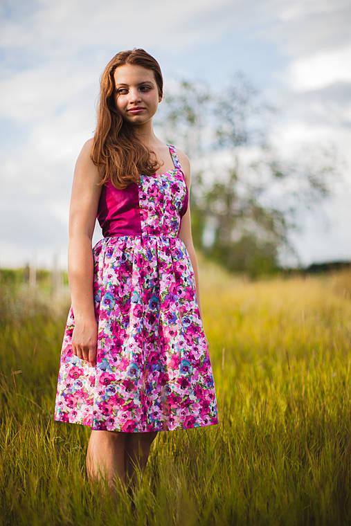 Šaty - Fialová lúka - 4304809_