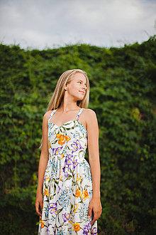 Šaty - Biele-kvetinové... - 4304993_