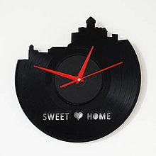 Hodiny - Trencin Castle - vinylové hodiny na LP - 4308290_