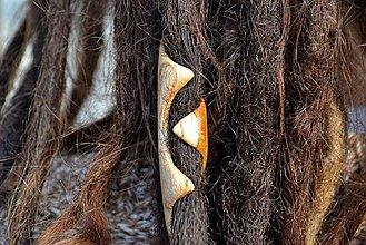 Ozdoby do vlasov - V čelusti - Dredy drevené korálky - 4307333_